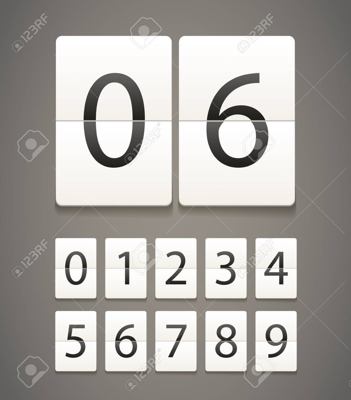 Paper diary with digits Stock Vector - 14392999