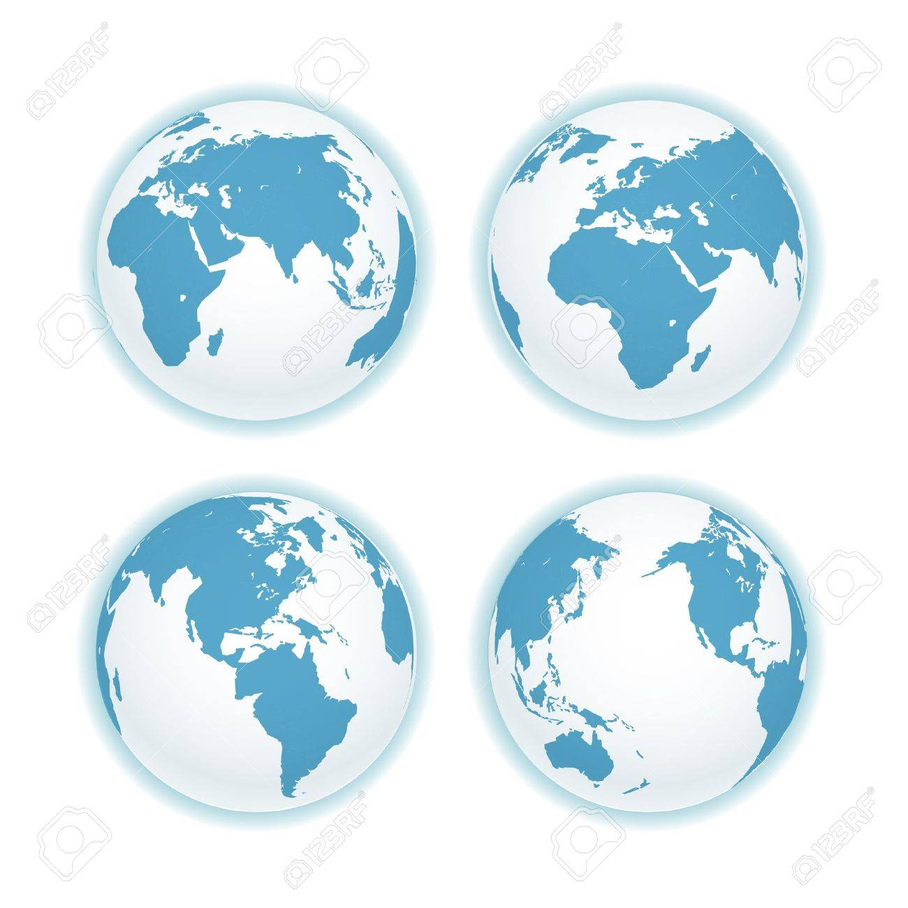 Earth map scheme isolated on white. Stock Vector - 16053095