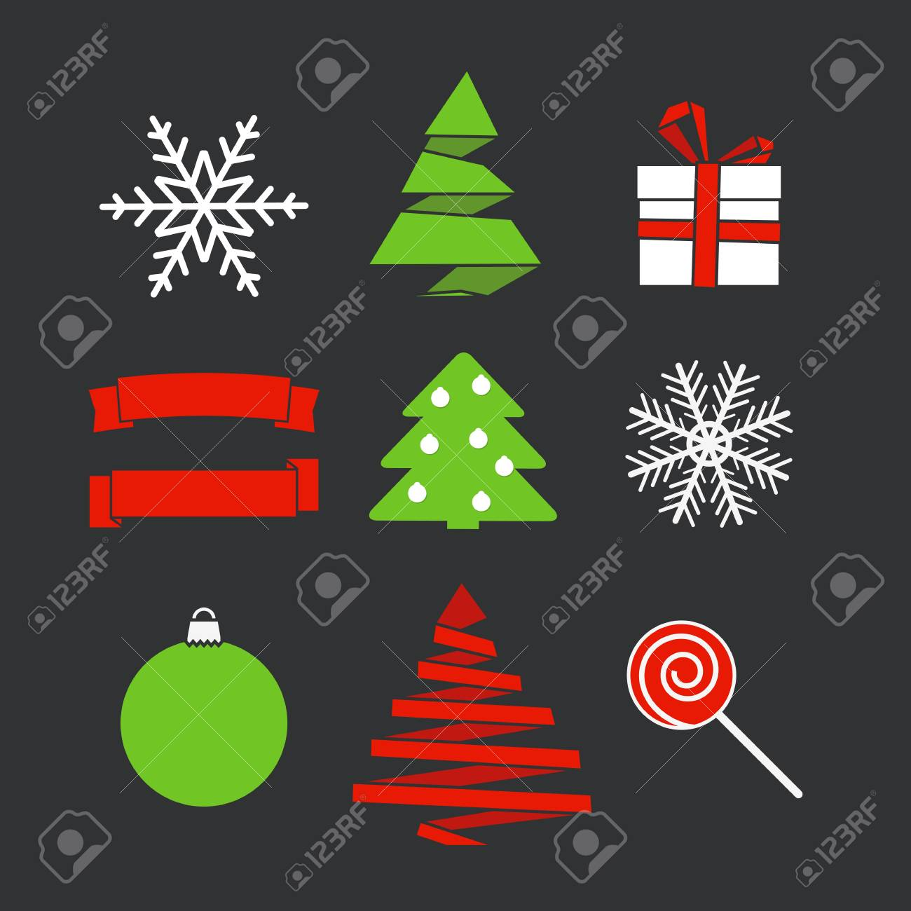 Abstract Christmas silhouettes Stock Vector - 16176524