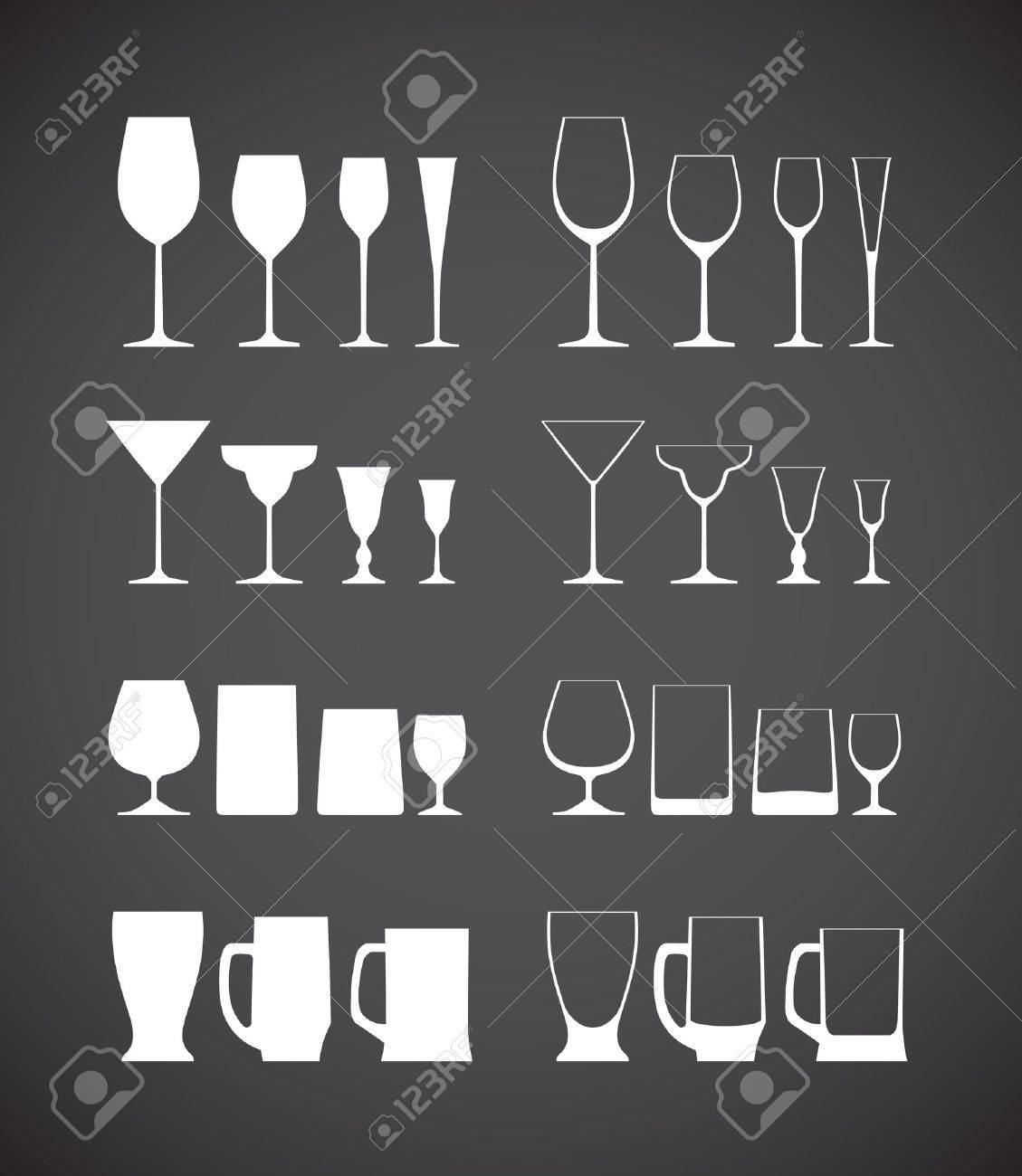 Glass silhouettes collection Stock Vector - 16176508