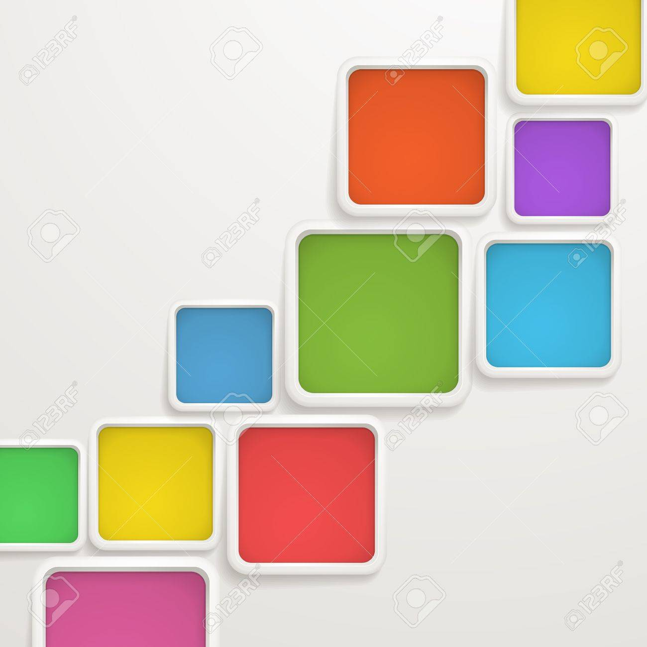 Abstract background of color boxes  Template for a text Stock Vector - 16312899