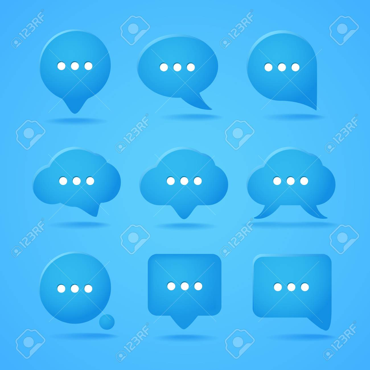 Abstract speech clouds  Ready for a text Stock Vector - 16533779