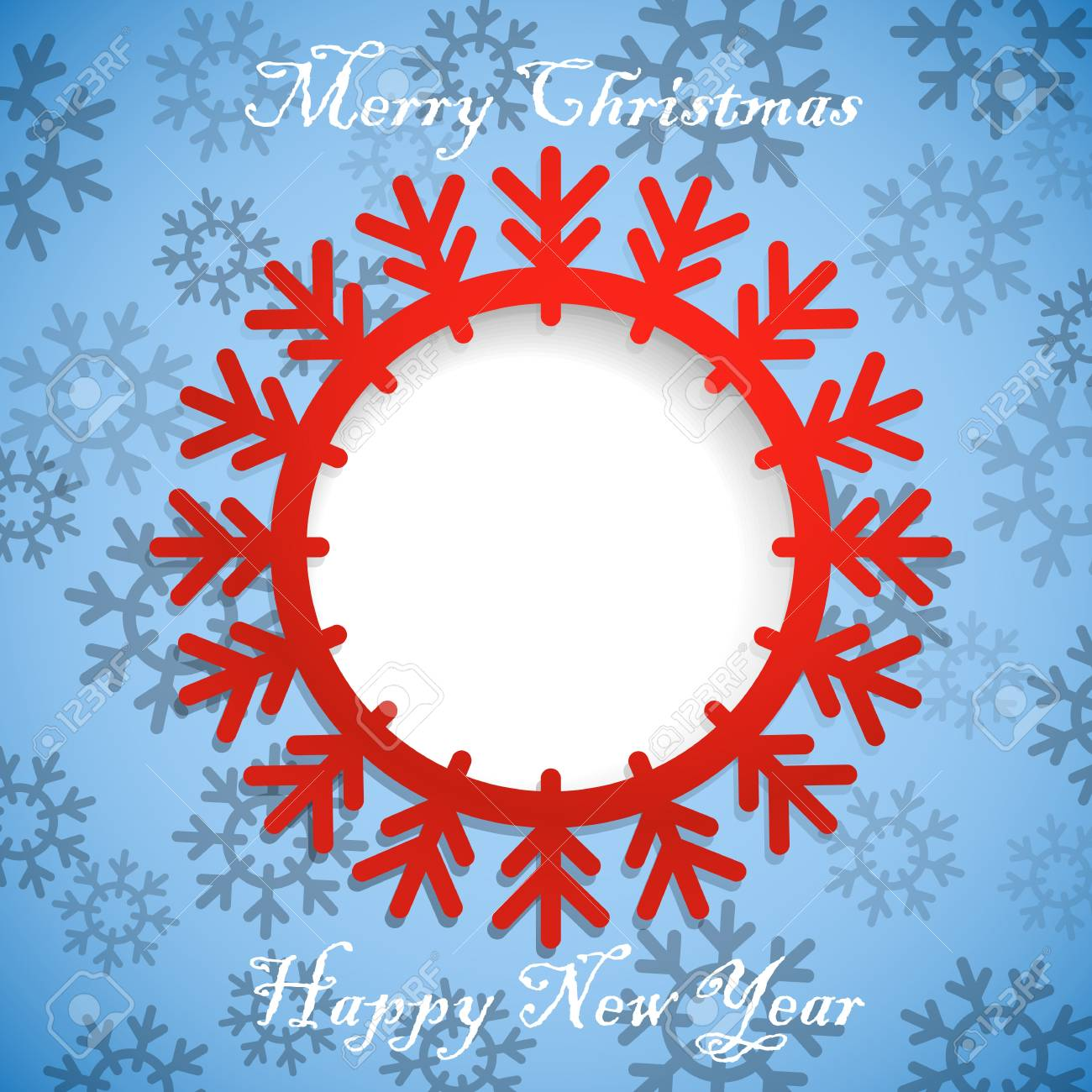 Christmas greeting card template  Ready for a text Stock Vector - 16885317