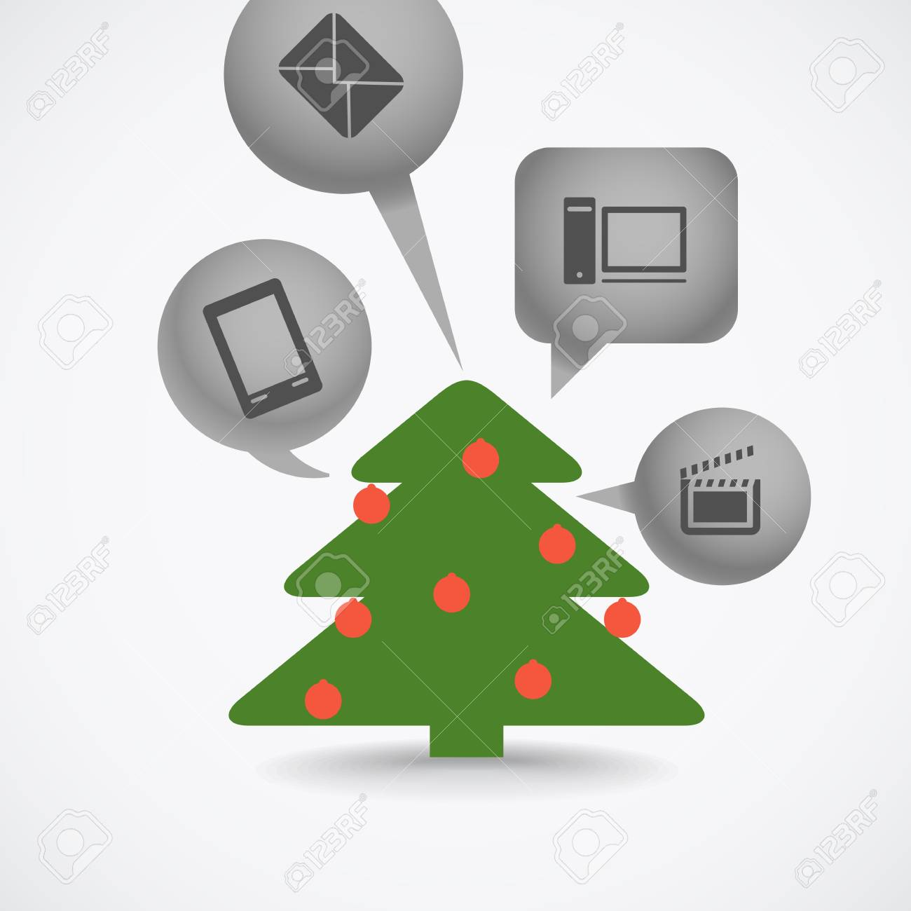 Christmas tree and different gifts Stock Vector - 16885303