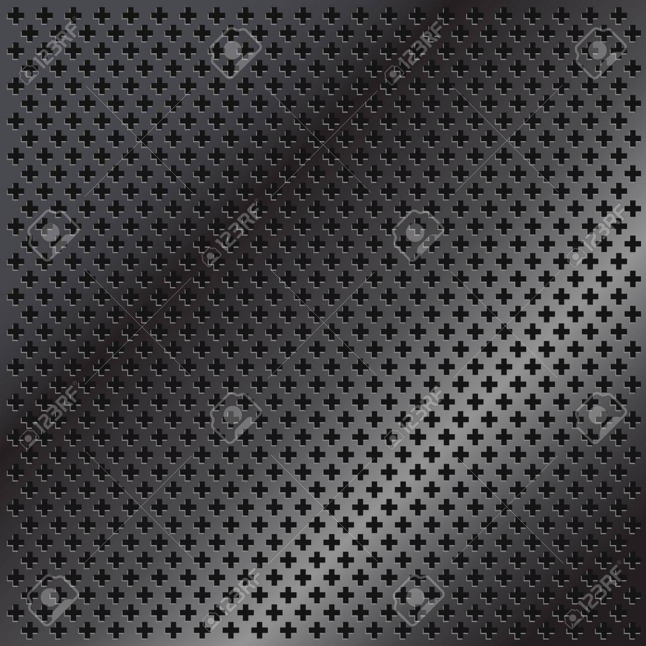 Grey metal texture Stock Vector - 16885307
