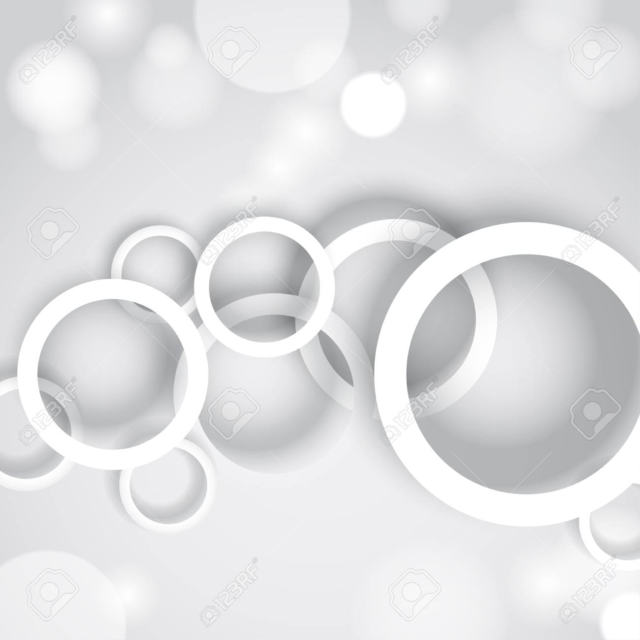Abstract background with white circles Stock Vector - 17574445