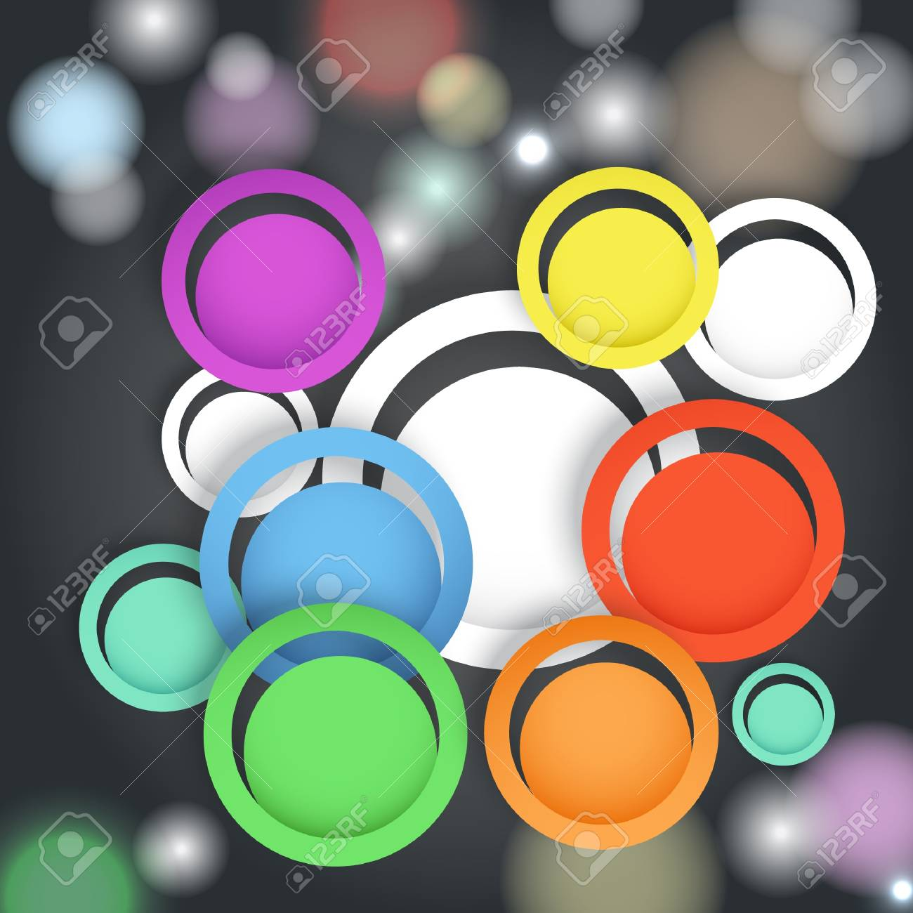 Abstract background with color circles Stock Vector - 17891475