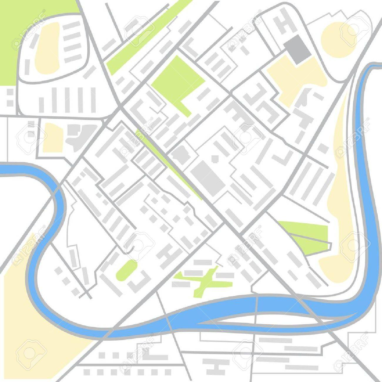 抽象的な都市地図イラストのイラスト素材ベクタ Image 17891478