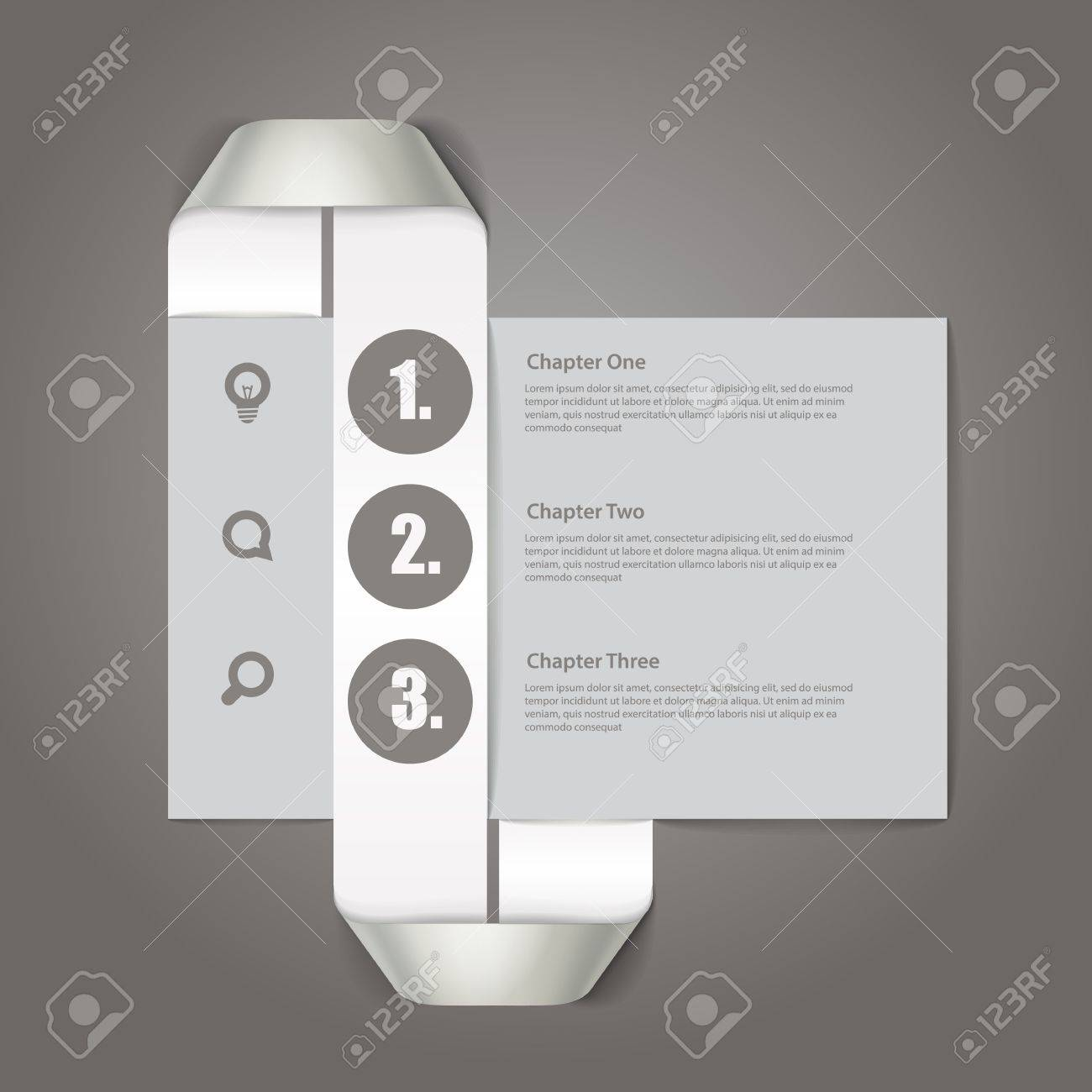 Website paper page design template Stock Vector - 17891485