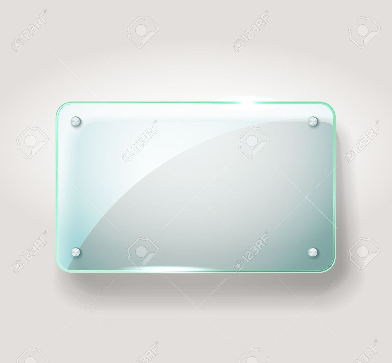 Glass advertising board  Template for a text Stock Vector - 18089700