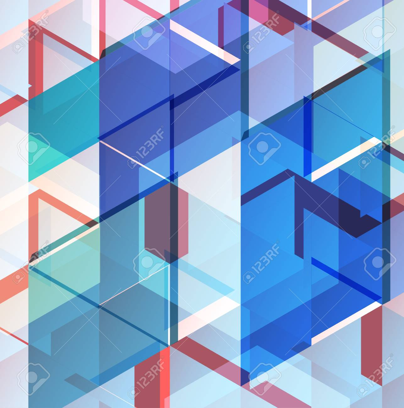 Abstract geometric background Stock Vector - 18215359
