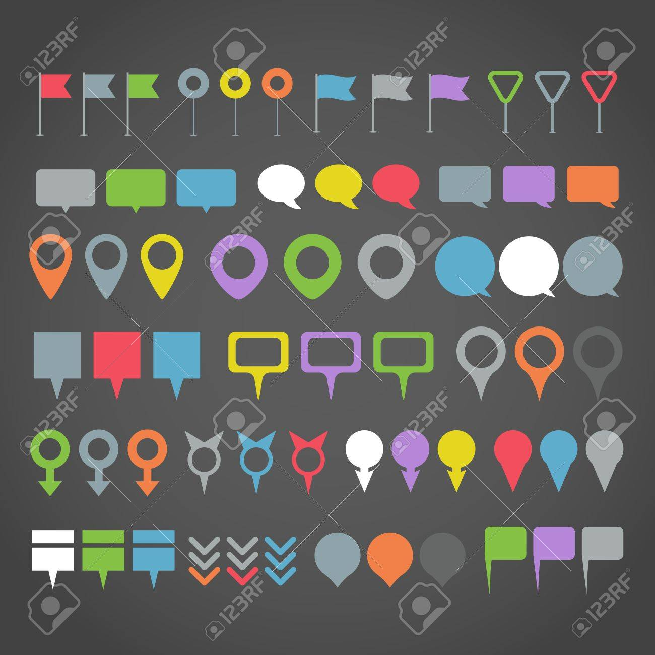 Navigation pins collection Stock Vector - 18675596