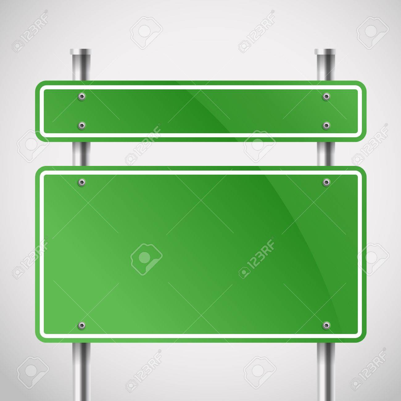 Blank green metal boards  Template for a text Stock Vector - 19222328