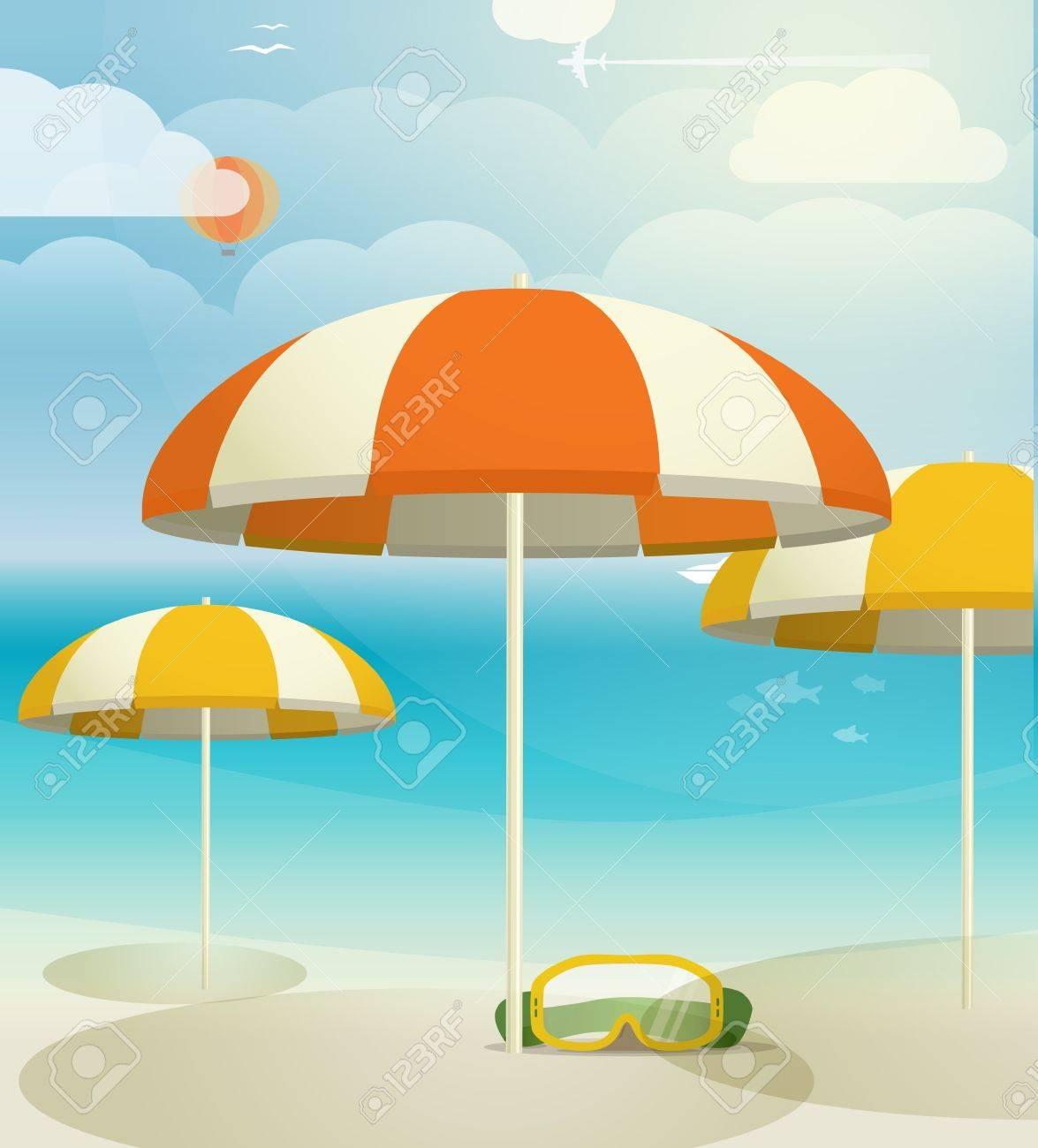 Summer seaside vacation illustration Stock Vector - 21599882