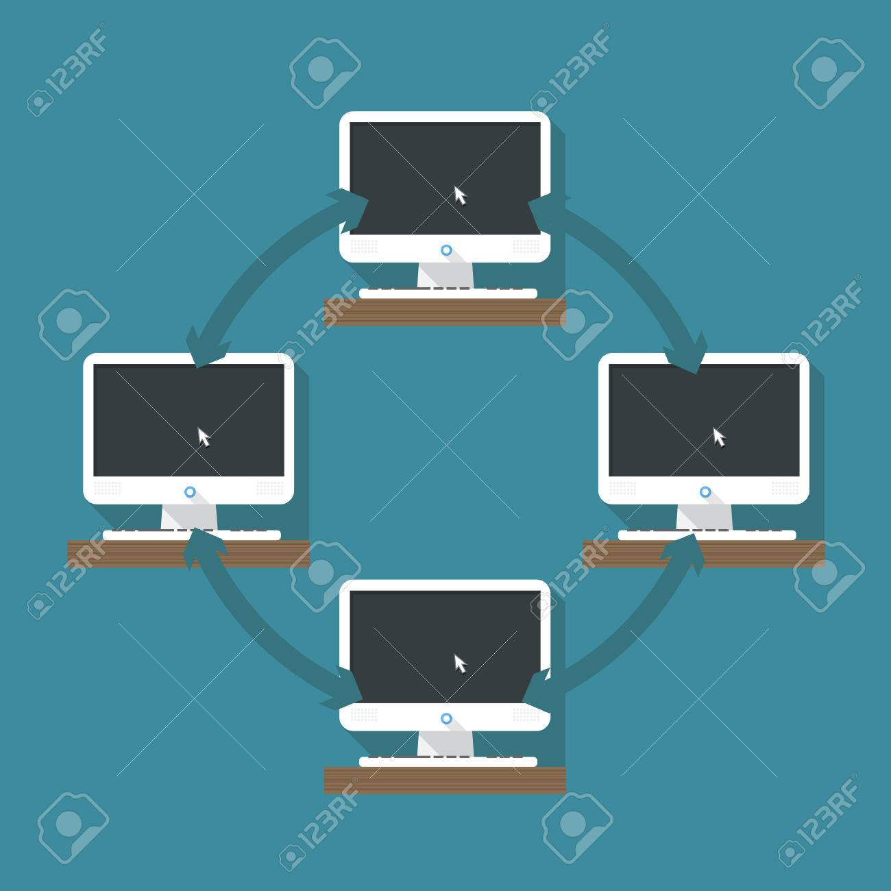 Abstract computer network scheme Stock Vector - 23909357