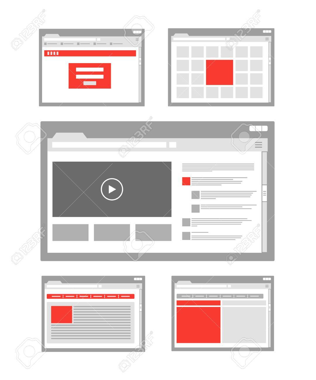 web site page templates collection - 24508463