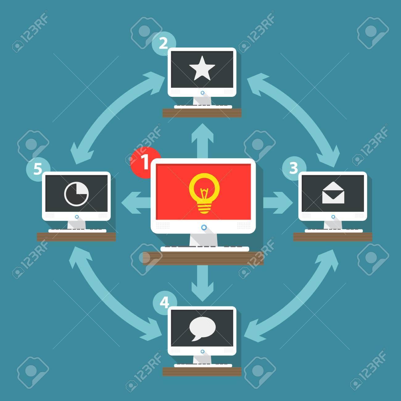 Abstract computer network scheme Stock Vector - 25273741