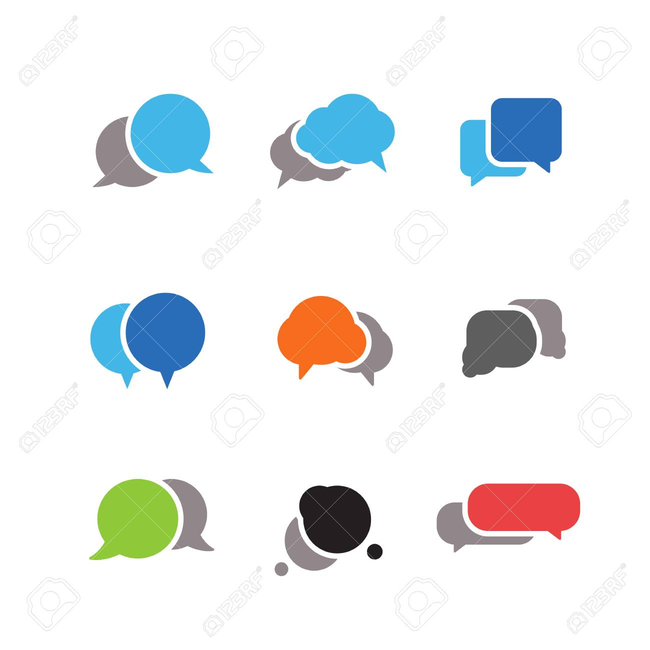 Abstract speech clouds Ready for a text - 27902646