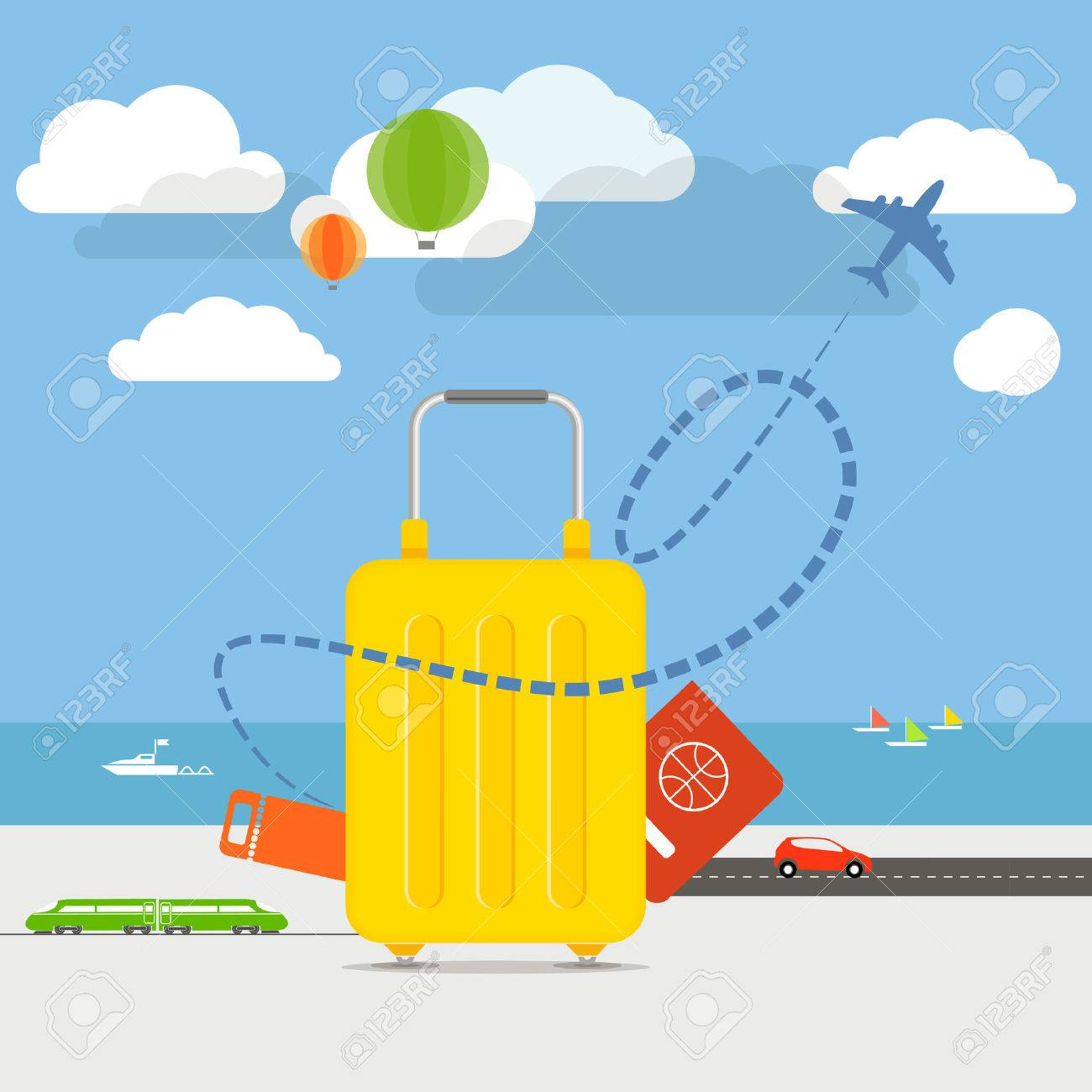 Vacation traveling concept illustration - 28919088