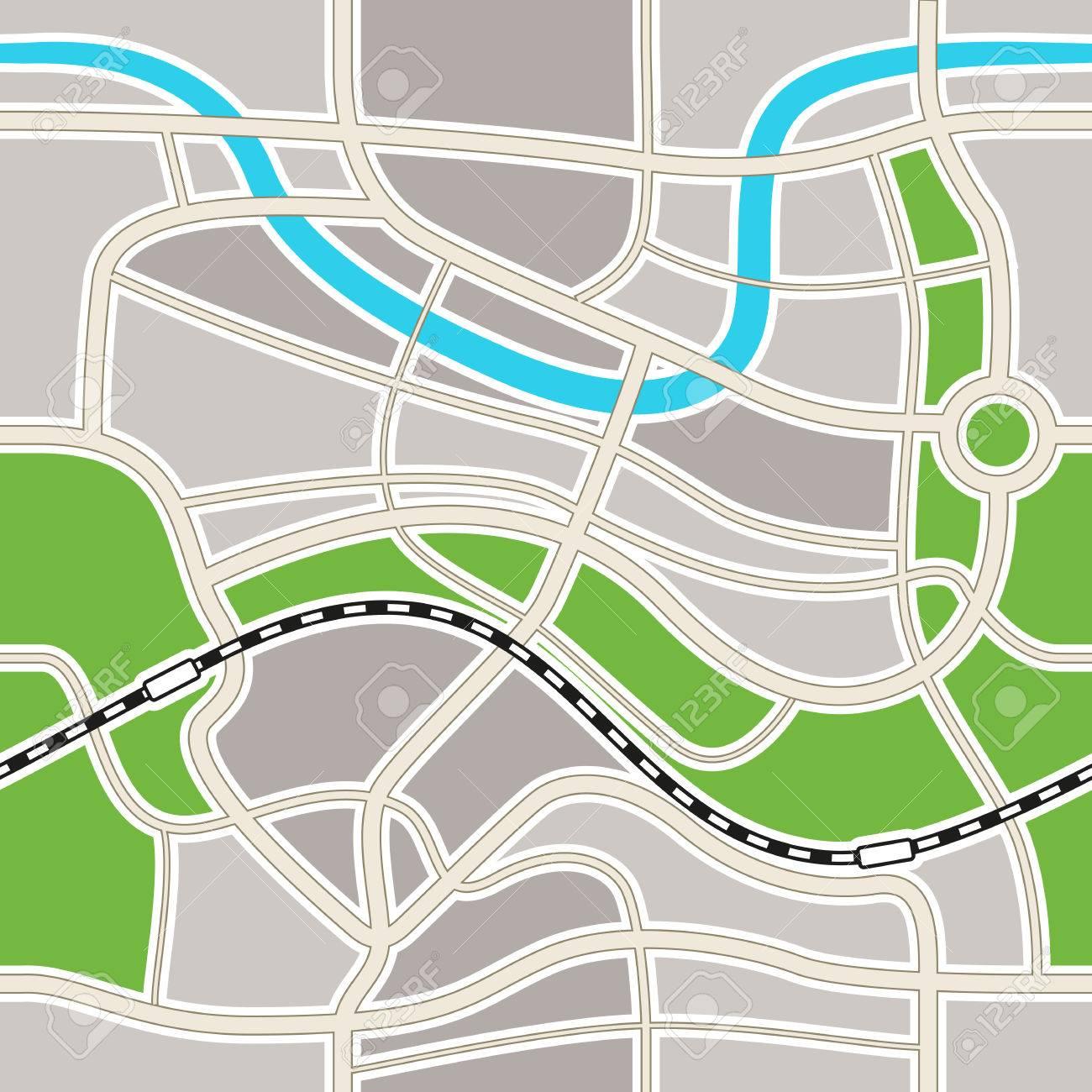 抽象的な都市地図イラストのイラスト素材ベクタ Image 31051799