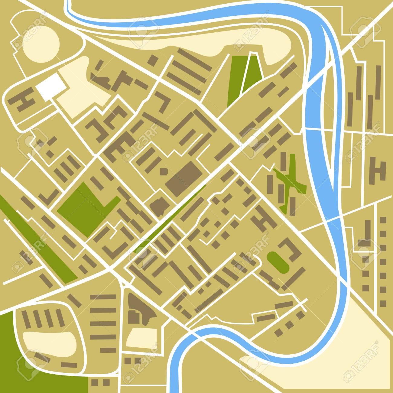 抽象的な都市地図イラストのイラスト素材ベクタ Image 31400659