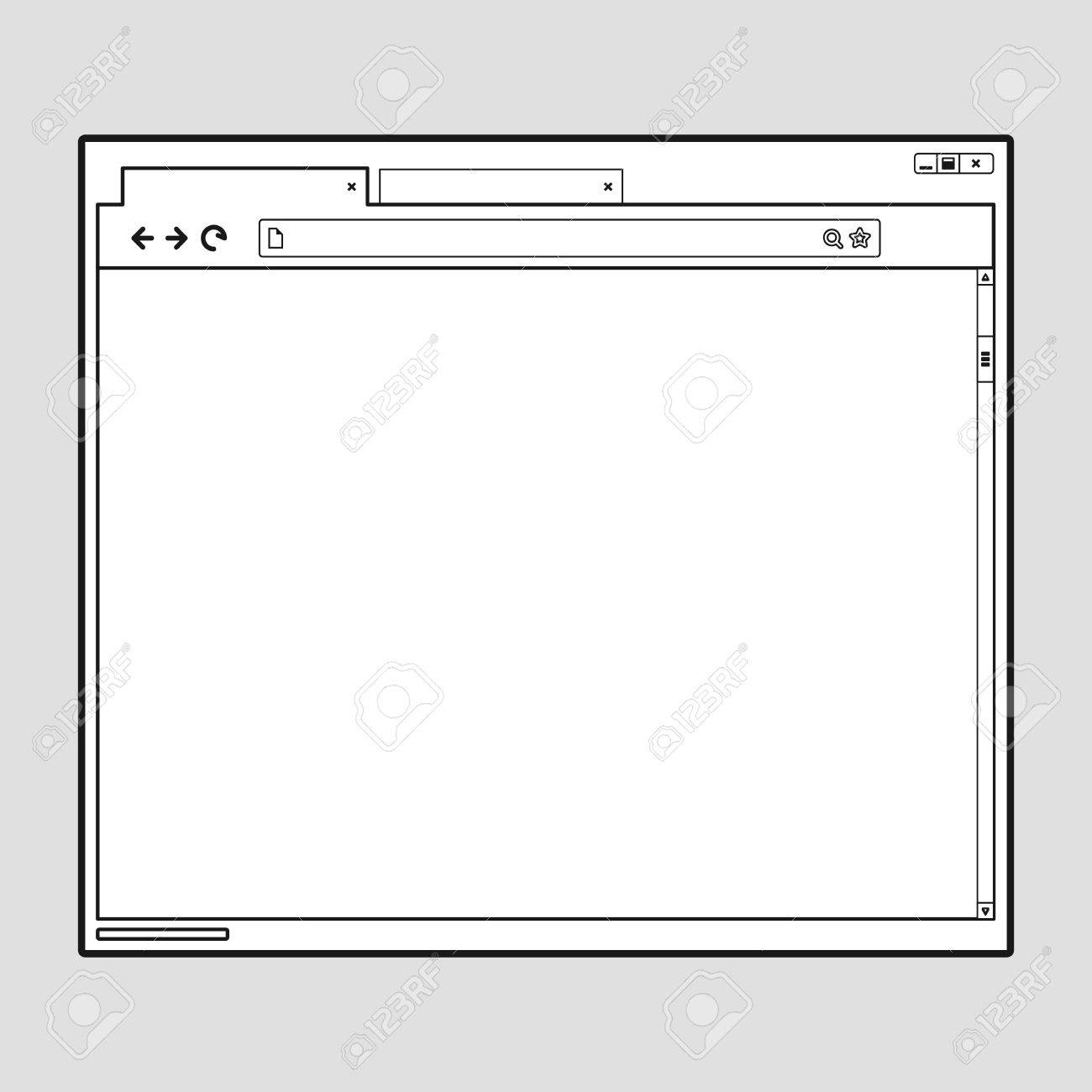 opened browser window template. past your content into it. web