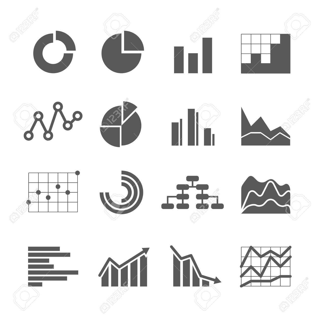 Different graphic business ratings and charts. infographic elements - 41710099