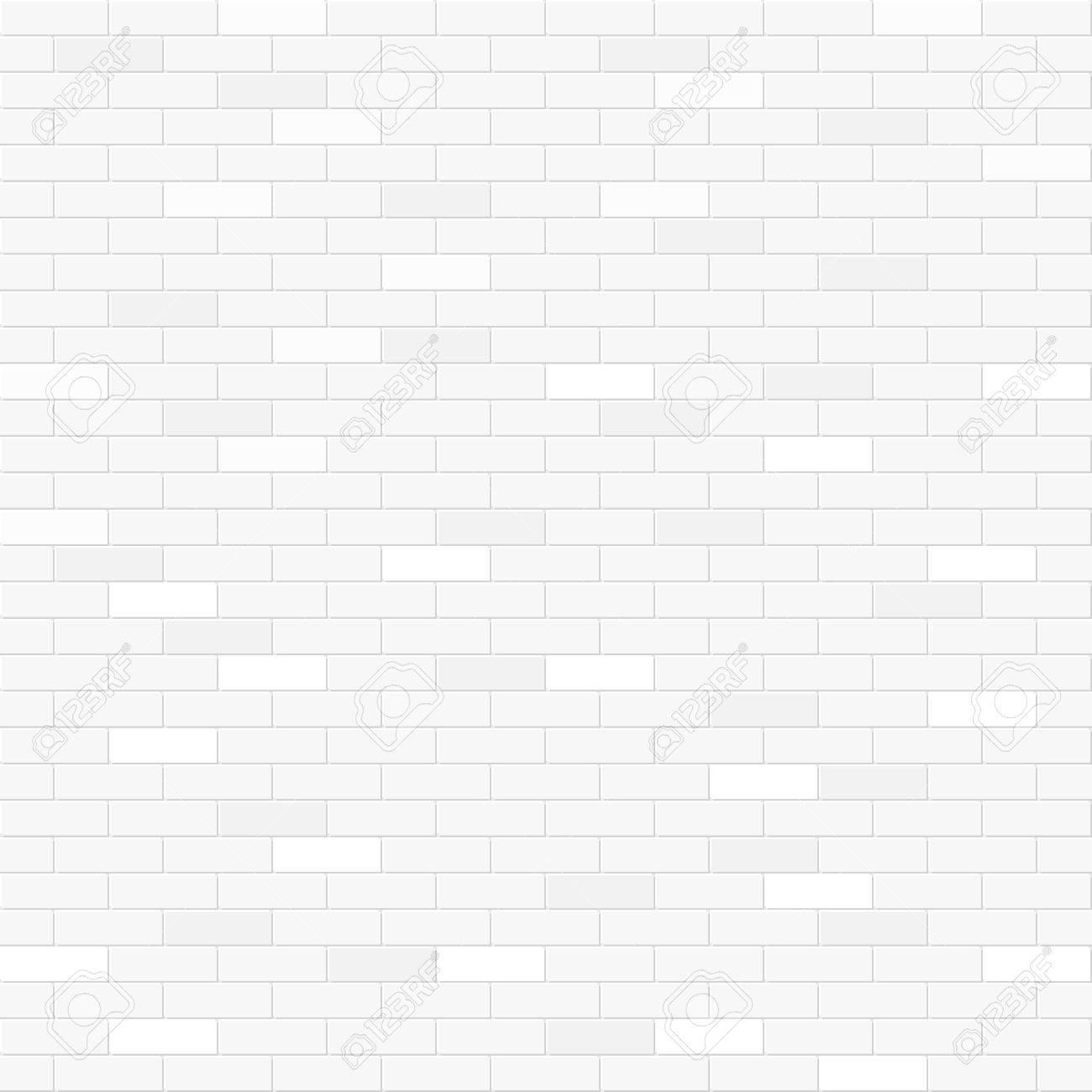 White brick wall seamless pattern - 49392598