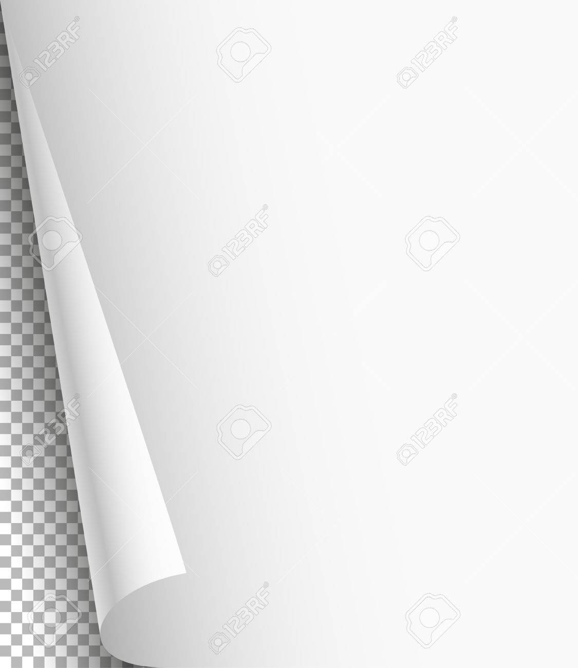 Blank Paper Sheet With Bending Corner On Transparent Background – Blank Paper Background