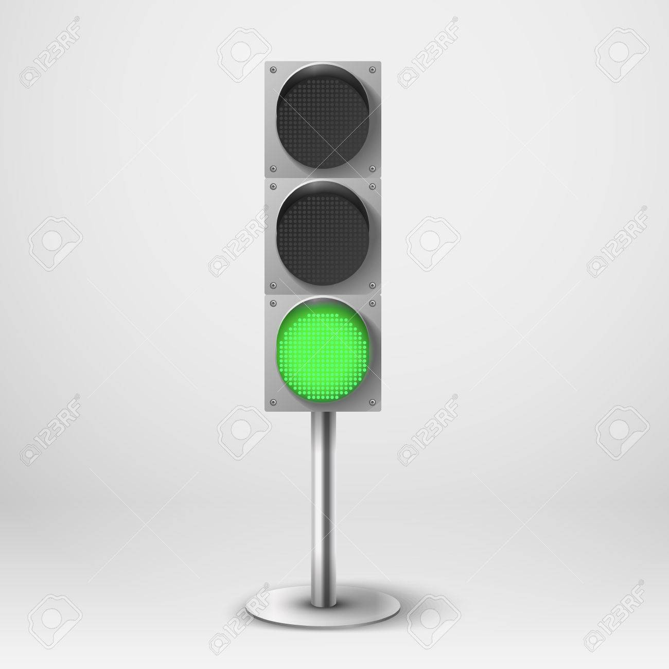 Traffic Light Vector Illustration. Green Diod Traffic Light ...