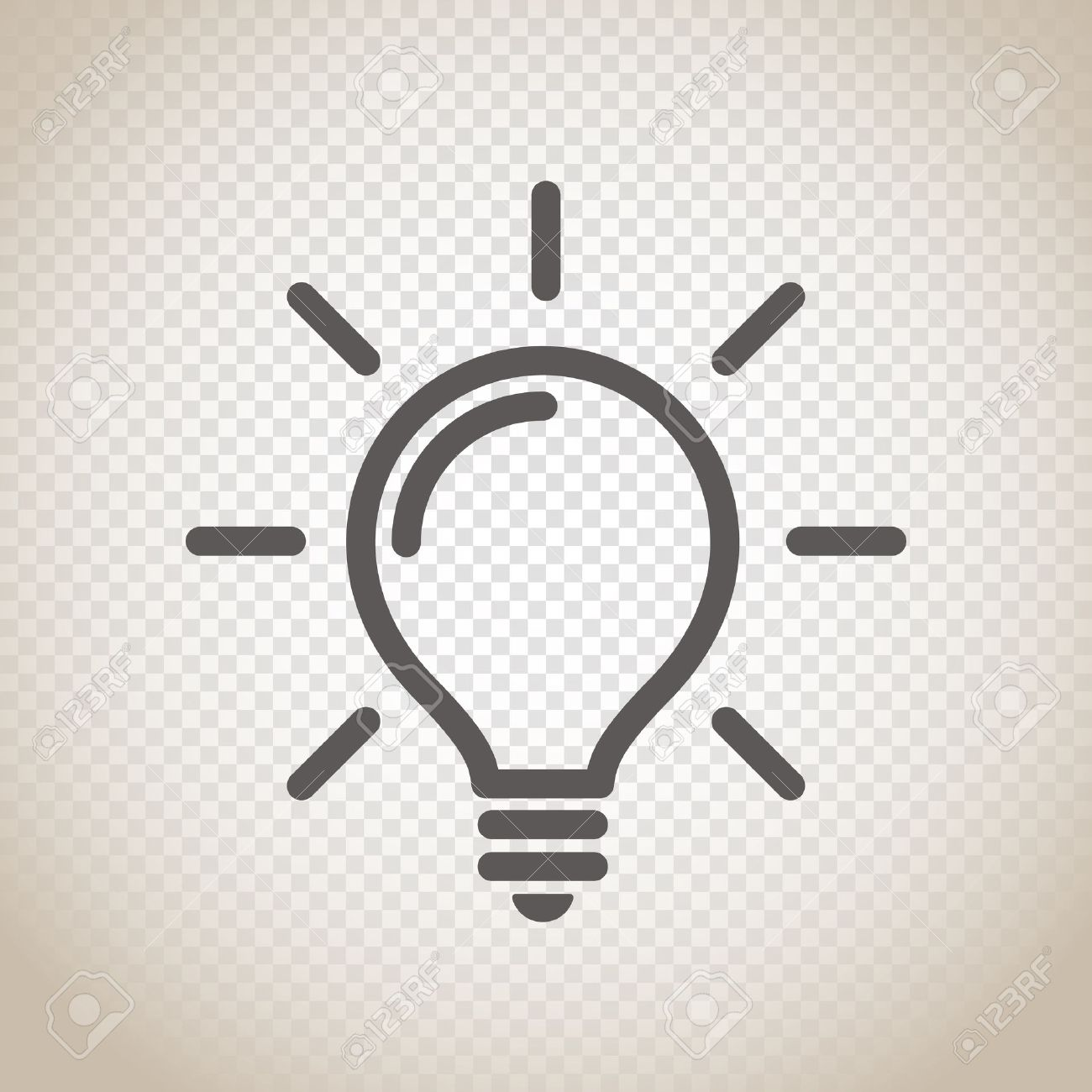 Light bulb vector icon on transparent background - 66903595