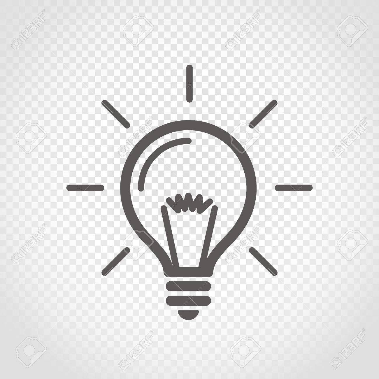 light bulb vector icon on transparent background royalty free cliparts vectors and stock illustration image 68033224 123rf com