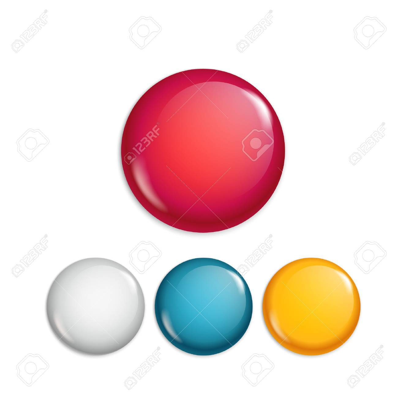 Different sale magnet buttons. Special offer banners collection. Web promo banners set - 78078015