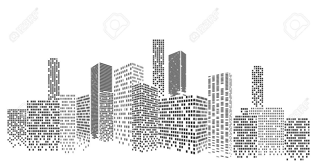 modern cityscape vector illustration city buildings perspective rh 123rf com cityscape vector image cityscape vector png
