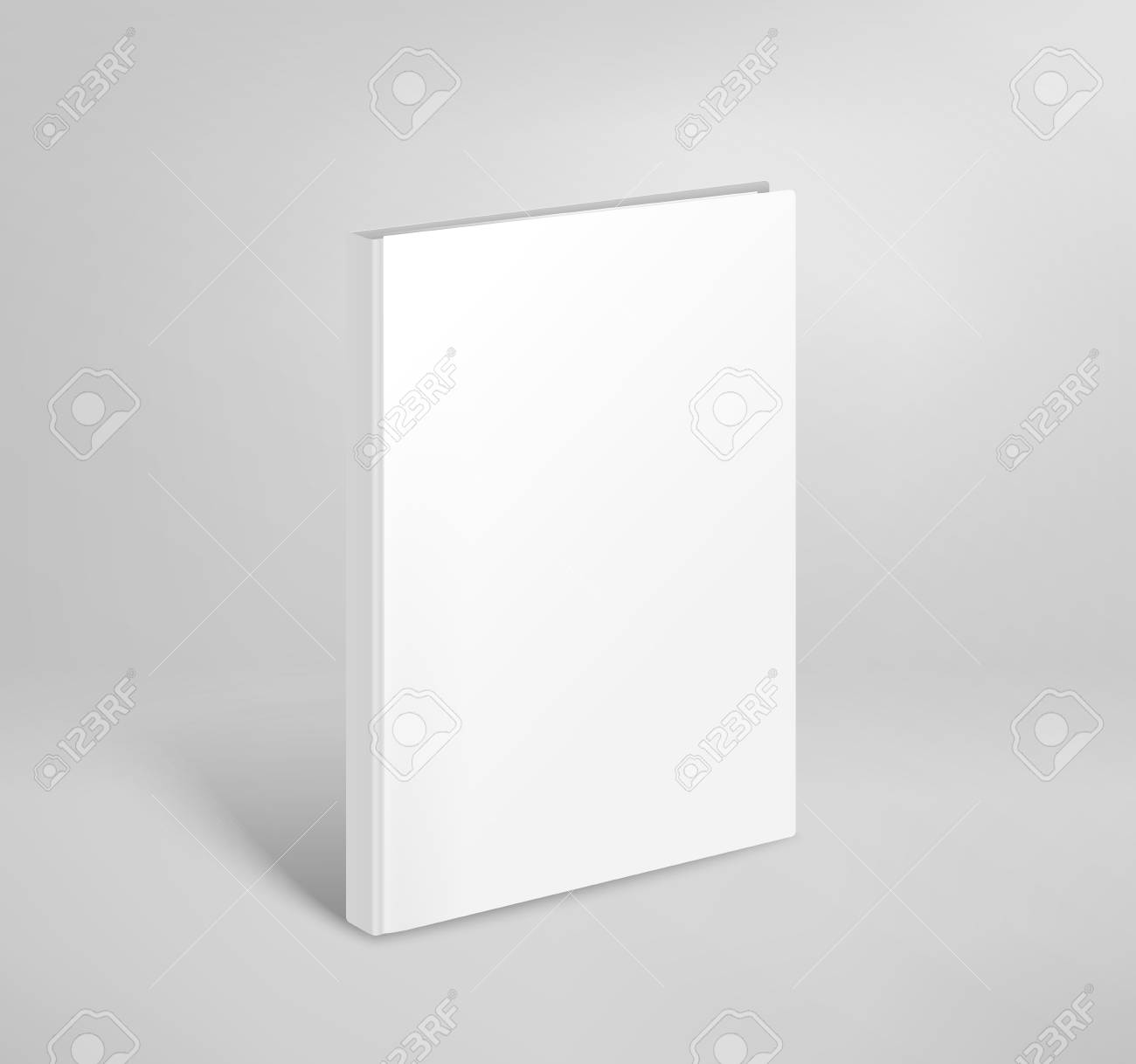 3d Blank Thin Book Vector Mockup. Paper Book Template Royalty Free ...