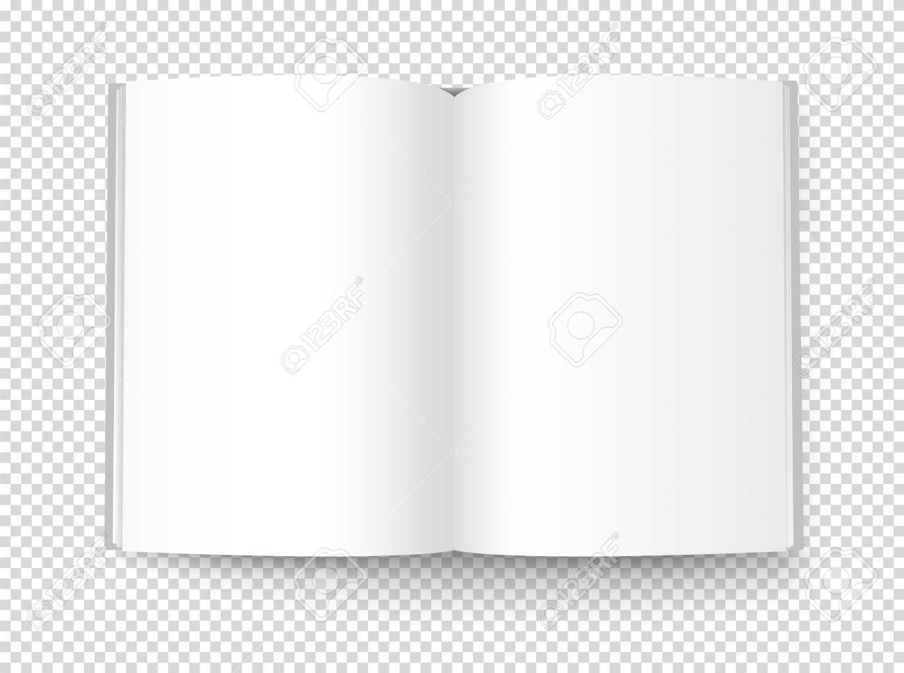 Blank book illustration. Vector object isolated on transparent background - 109675238