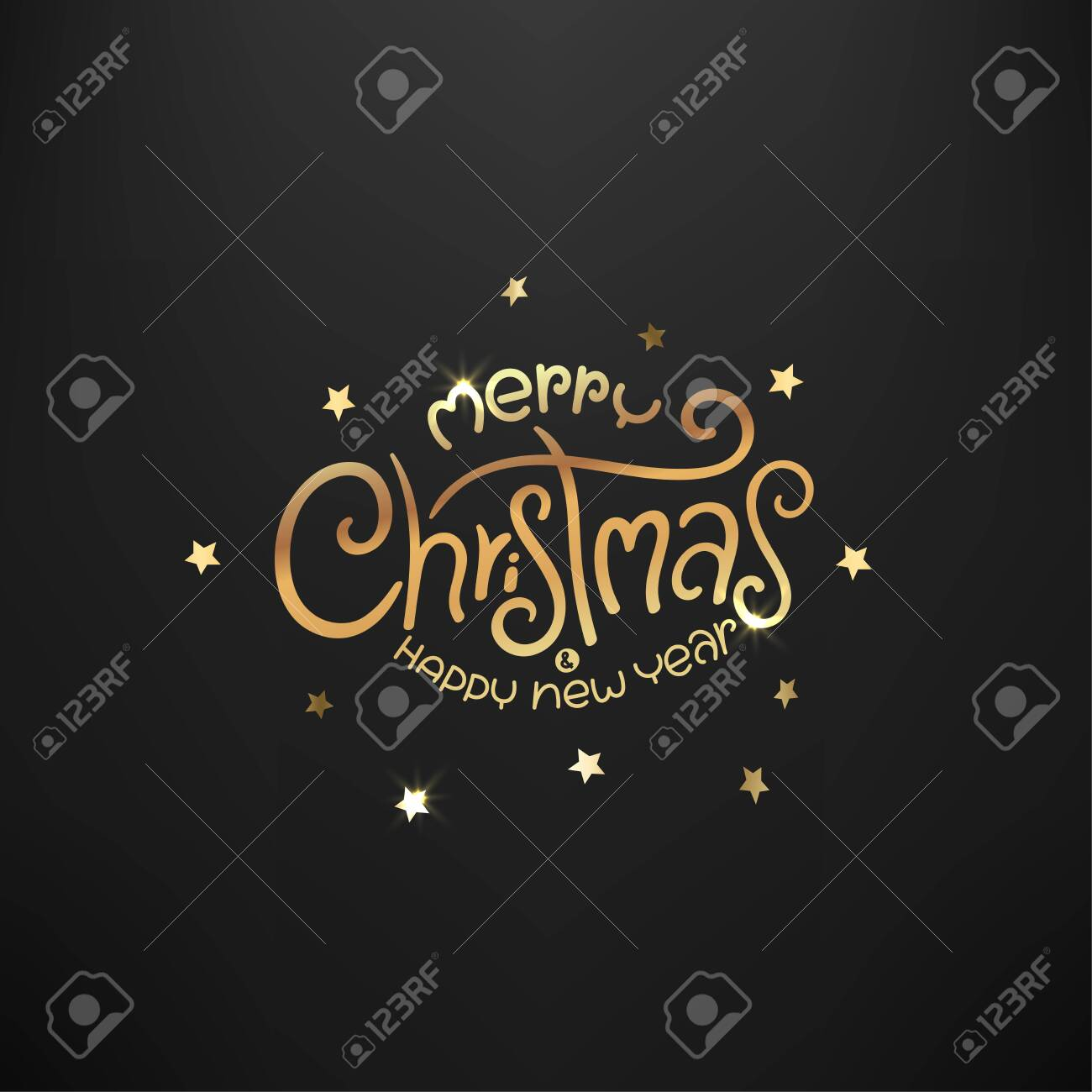Merry Christmas and Happy new year luxury card - 133878712