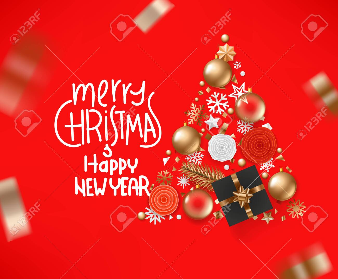 merry christmas and happy new 2020 year greeting card vector royalty free cliparts vectors and stock illustration image 134559269 merry christmas and happy new 2020 year greeting card vector