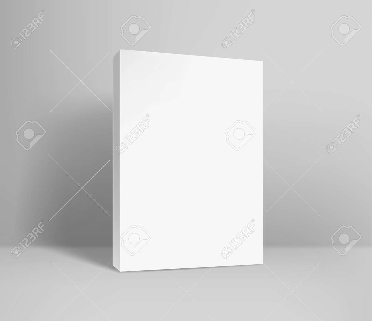 Blank paper book realistic vector illustration. Template for design. Vector mockup - 166366219