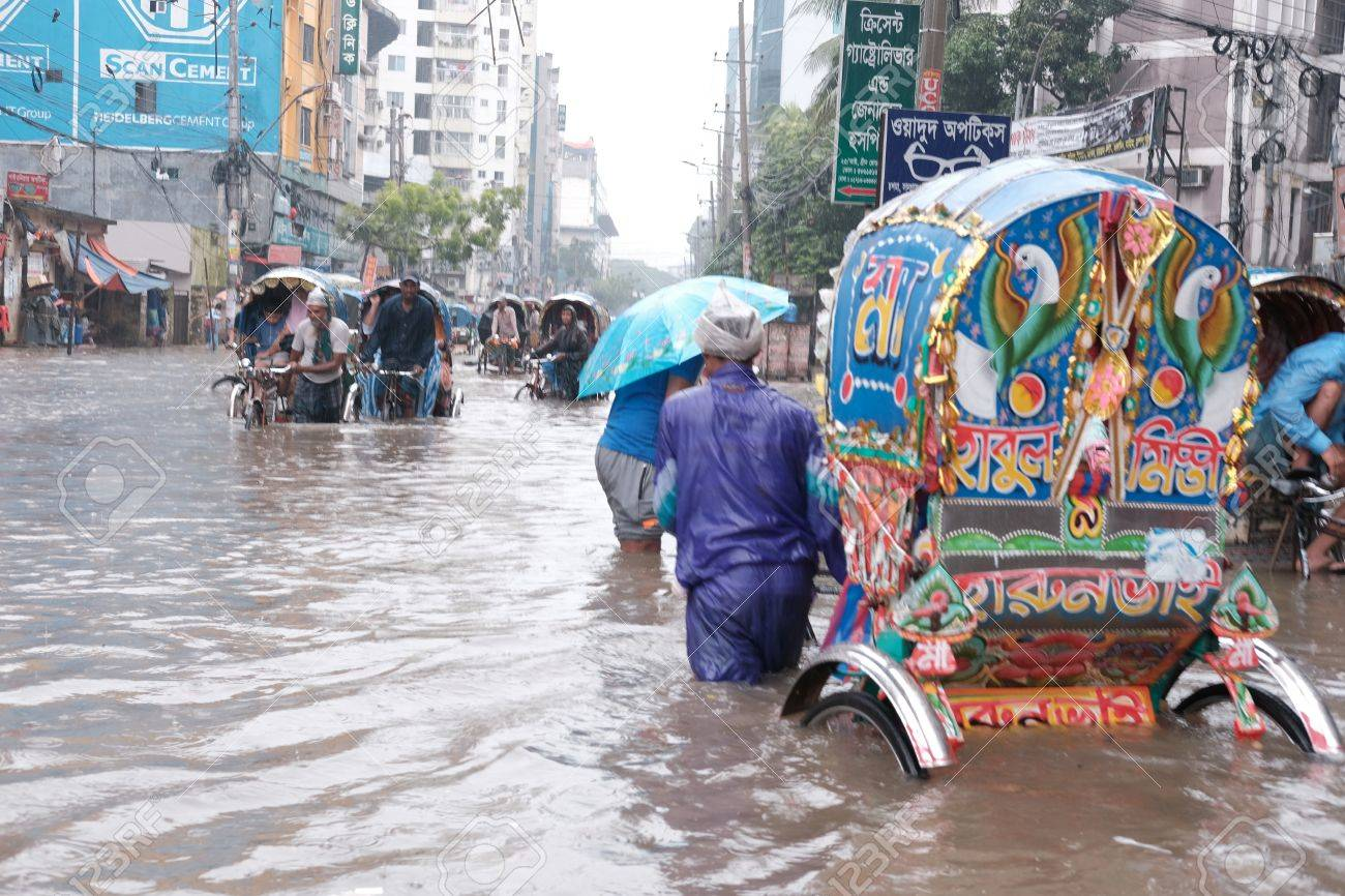 Dhaka Bangladesh September Heavy Raining Cause Water - Where is bangladesh located