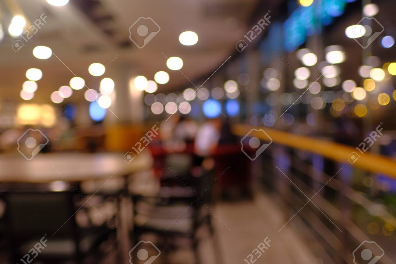 blur cafe background for advertisement, wide view - 142009568