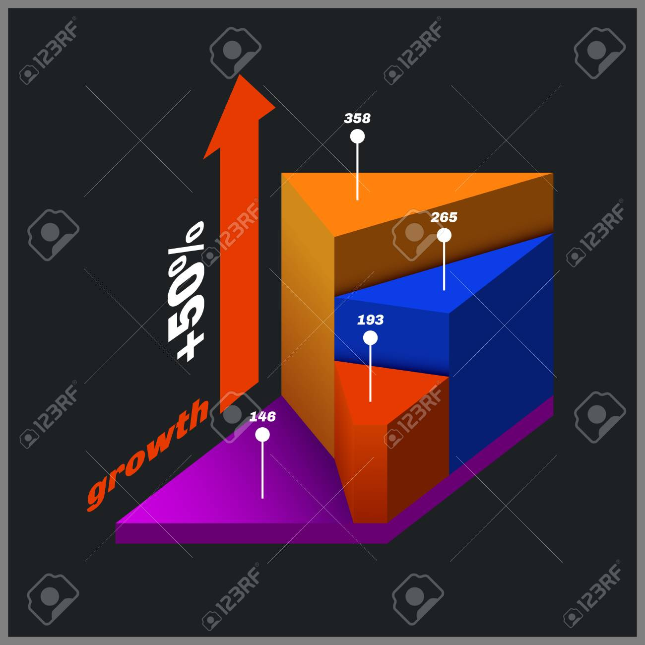 Color Isometric Diagram Info Graphic With Gradients Royalty Free The Purpose Of An Is To Stock Vector 37630122