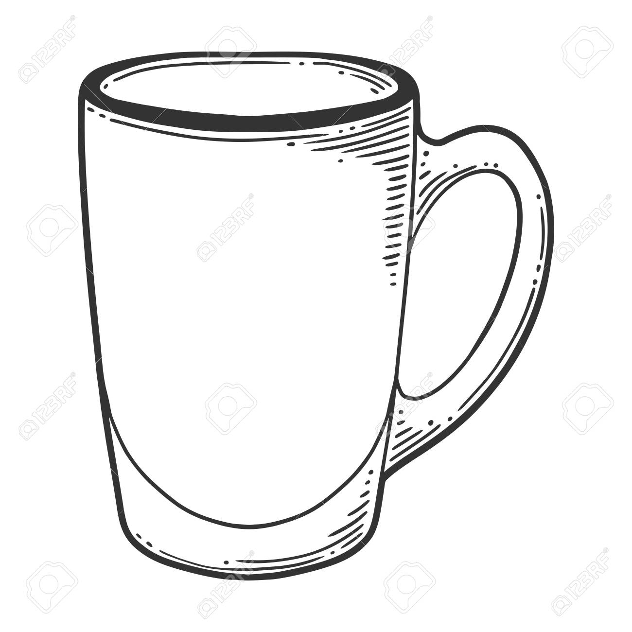 Glass Tea Or Coffee Cup Vector Concept In Doodle And Sketch Royalty Free Cliparts Vectors And Stock Illustration Image 127904663