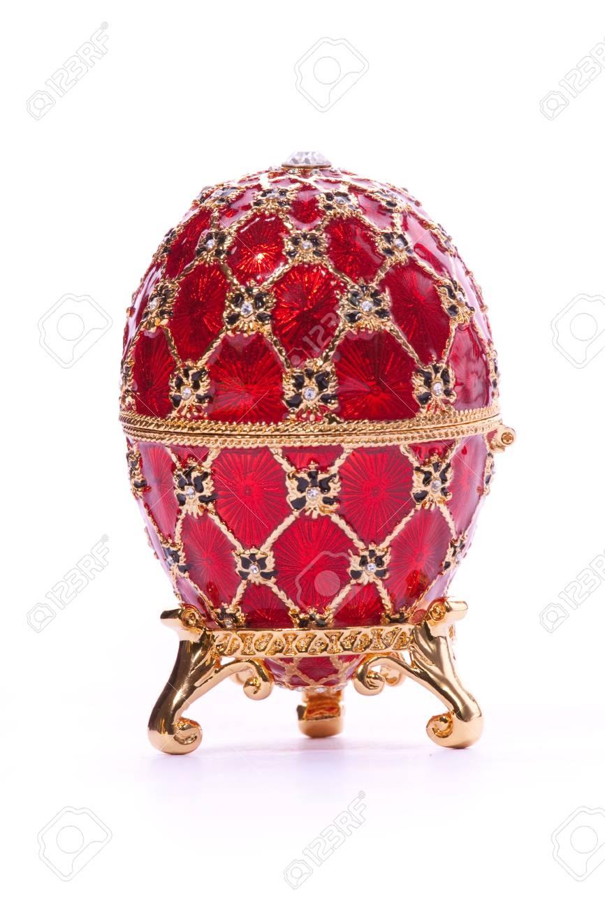 Faberge egg. Isolated on white. Stock Photo - 5973948