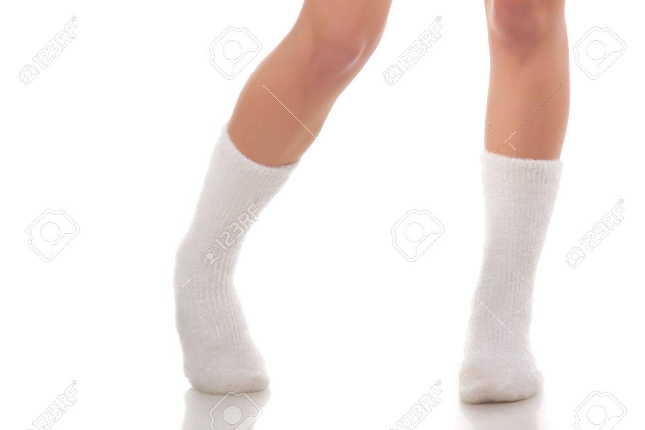 Beautiful female legs. Isolated on white. Stock Photo - 6601440