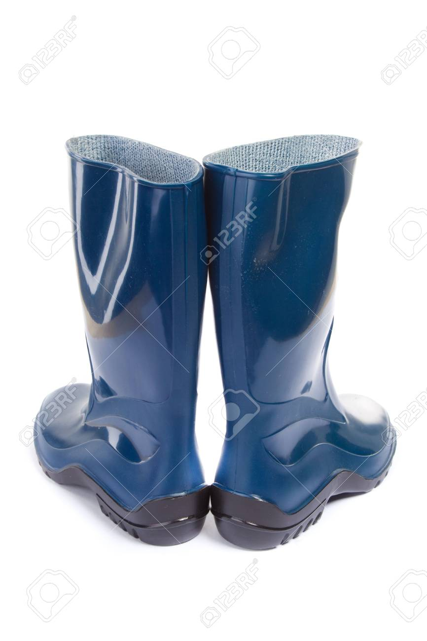 Gumboots. Isolated on white. Close-up. Stock Photo - 6833368