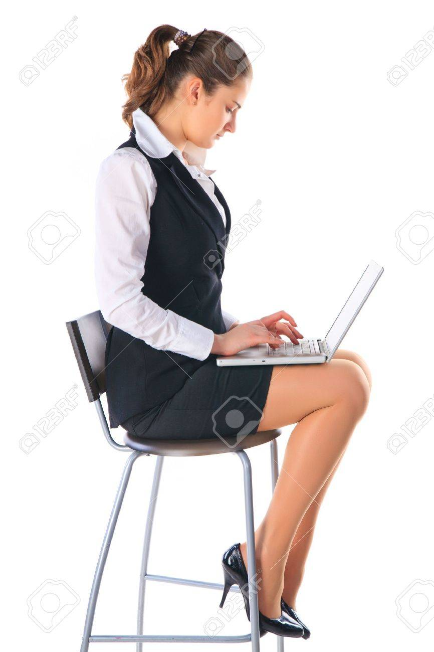 Business woman works on the laptop Stock Photo - 11889267
