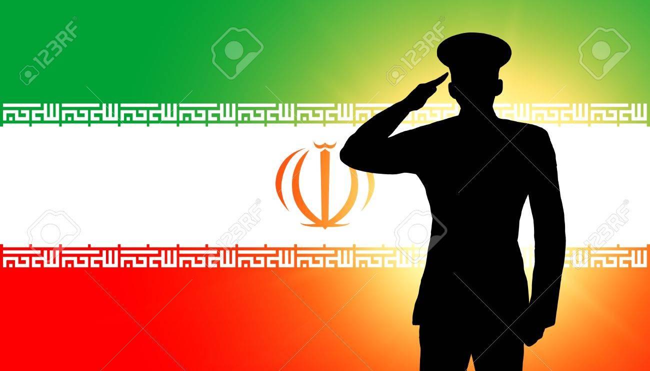 The Iranian flag Stock Photo - 12406938