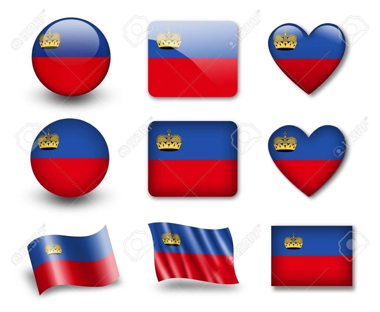 The Liechtenstein flag Stock Photo - 12407114