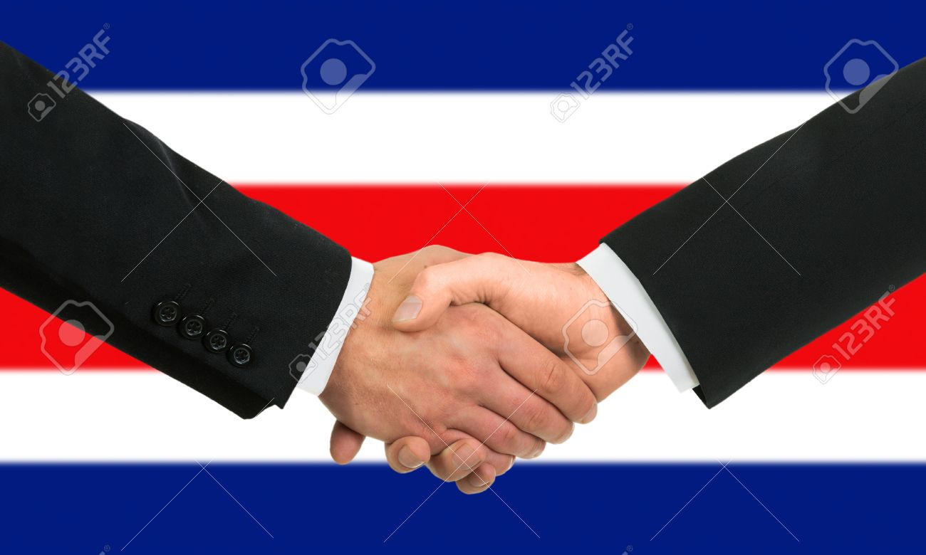 The costa rica flag and business handshake stock photo picture and stock photo the costa rica flag and business handshake m4hsunfo